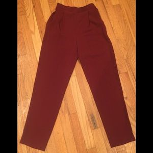 American Apparel Burgundy Red Pant Size Small